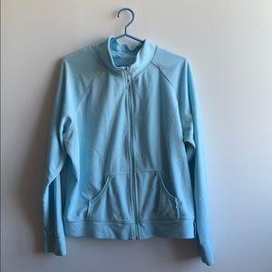 Light Blue Fleece Zip Up